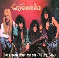 DON'T KNOW WHAT YOU GOT (UNTIL IT'S GONE), CINDERELLA